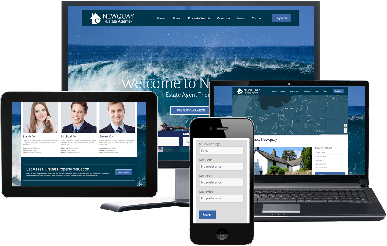 Newquay Estate Agency Theme